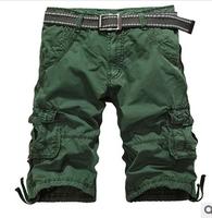 Free Shipping 2014 Hot Sale male's leisure/casual short trousers man's shorts, black/gray/khaki Size M-XXXL AK04