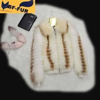 Luxury New 2014 Women Genuine Raccoon Fur Coats Jackets Women's Natural Real Fur Vests Gilets Fashion Outerwear Plus Size