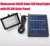 Free Shipping Upgraded Version 45LED Waterproof Solar Lamp Flood Light 6V 3W Solar Panel solar lamp garden