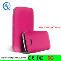 Free shipping Great Fangle cell phone Leather Pouch for Iphone 5 5S  mobile phone bag&cases #MC005