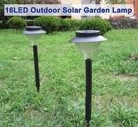 16LED outdoor solar garden lamp, LED Solar Light Outdoor Garden Lawn Landscape Decoration Lamp Plastic, free shipping