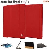 Hot! Jisoncase High-quality 100% Microfiber Smart Cover for ipad air 2 Smart red Case for ipad air 1  Stand Tablet Durable Case