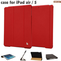 for cover ipad air Smart red Case for ipad air 5 leather case Stand Tablet Designer Ultrathin Leather Case for ipad air 5