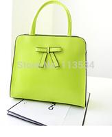 2014 New women handbag fashion Bow design shoulder bags women messenger bags women PU leather handbags bags
