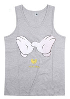 Wu tang cotton cartoon print hip hop tank top for man fashion pullover vest sleeveless fitness singlet black grey red size S-3XL