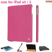 for case ipad air Smart Case for ipad air 5 leather 2014 Stand Tablet Designer Ultrathin Leather Case for ipad air 5 leather