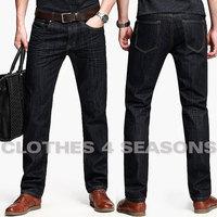 Excelent Clipping Jeans 2014 Slim Jeans Men Fashion Long Pants Mid-Rise Black Jeans 100% Cotton Top Quality Denim Trousers 29-36