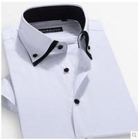 Sarouya2014 summer  male short-sleeve  slim casual men's clothing shirt