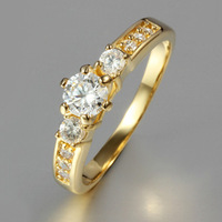 Claw 18K gold plated drag CZ rings  ALW1811