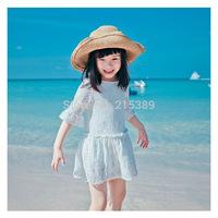 New 2014 children's summer dress princess  lace dress kids clothing girls dress  free shipping