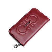 Summer female genuine leather clutch fashion high quality sweet sheepskin plaid bag women's wallet