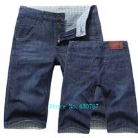 Free shipping 2014 summer new men's denim shorts 100% cotton high quality casual men's denim shorts