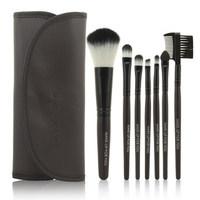 2014 HOT !! Professional 7 pcs Makeup Brush Set tools Make-up Toiletry Kit Wool Brand Make Up Brush Set Case free shipping