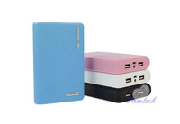 New wallet type power bank listed big capacity 12000mAh portable external power bank battery charger for cell phone free ship