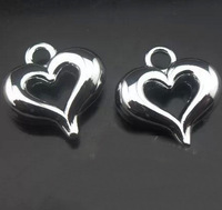 50pcs alloy heart Pendands Jewelry accessories DIY Hang Charms fit necklace cell phone charms