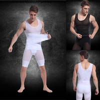 Retail TCB-378 Two Color Men's Vest Slimming Shirt Corset Left Side Opening Body Shaper  Tank Top