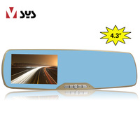 4.3 inch Rotatable mini Car Vehicle DVR, Car DVR Recorder,Car Black BOX handsfree rearviews mirror