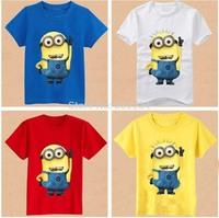 1pcs/lot 2014 despicable me minion boys girls nova t-shirts kids children's children t shirts Apparel & Accessories Tops & Tees