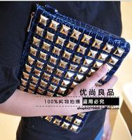 Free Shipping New Arrival 2014 shoulder bags women rivet handbags women's clutchers messenger bags totes BA0036