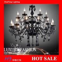 BLACK  Crystal chandelier 18+5 lights lamps  chandeliers lamps crystal chandelier lustre lamp led lamp