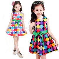 New 2014 children's summer dress princess  dress kids clothing girls dress  free shipping