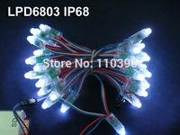 12mm waterproof ip68 5v addressable lpd6803 full color rgb pixel led module string light,50 pixels/string