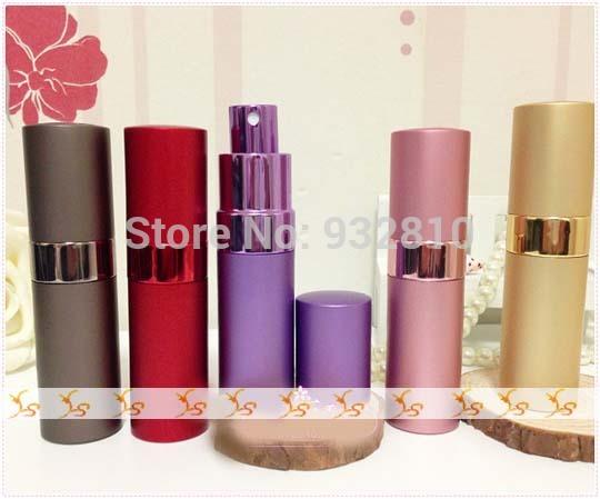 New Design Aluminum Cover 15ml Perfume Spray Bottle Glass Vials Cosmetic Packaging for Eau De Parfum 10pcs/lot ZH1250(China (Mainland))