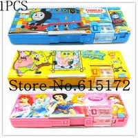 1pcs Princess Sponge Bob Thomas Korea Kawaii Cute Stationery For School Supplies Pen Box Pencil Case pencil-case For Girl Boy
