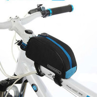 2013 New Cycling Bike Outdoor Sports Bicycle Frame Pannier Front Tube Bag 3 colors Blue BG004 Wholesale