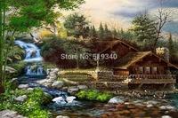 Land of Utopia Diy Diamond painting my beautiful home 45*30 decorative painting resinstone square full diamond painting unfinish