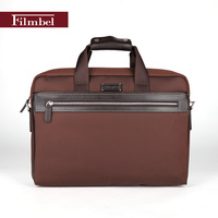 Brand Filmbel Nylon casual Briefcase for men messenger bag real cow leather shoulder bag laptop bag portfolio  FP0004-2