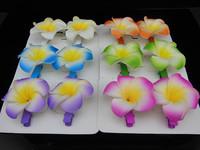2015 Limited Freeshipping Tiara Noiva Bridal Hair Accessories Fashion 12pcs 6color Hawaiian Plumeria Flower Foam Hair Clip New