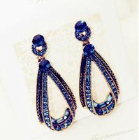 Top quality fashion elegant crystal water drop shape drop earrings R4345