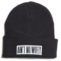 Free Shipping 100% Acrylic best Aint no wifey beanie knitted hat no wifey hiphop beanies winter fashionable casual cap