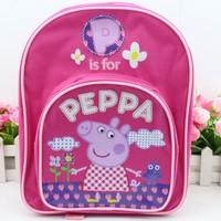 Hot 2014 kids backpack peppa pig backpack children schoolbag preschool backpack boys girls gift cartoon stationeary