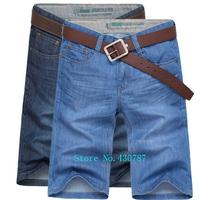 Free shipping 2014 new summer men's denim shorts high quality 100% cotton men's fashion casual denim shorts