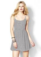 2014 New Fashion black-and-white striped dress Spaghetti Strap EN001