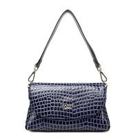 Free Shipping ( Royalblue ) split cow leather  ( patent leather )  Stone grain  leather messenger bag  Tote Bag   handbag