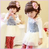 2014 spring new arrival child girl's denim yarn braces dresses,fashion summer hot selling girl denim dresses cute kids wear