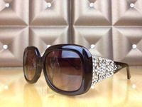 Women Sunglasses Diamond Crystal Glasses Bronze Italy  Free Shipping New Design With Tags