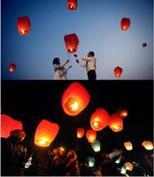 10pcs  freeship Chinese Sky Lantern Chineses Kongming Flying Sky Lantern Wishing Lamp For Wedding Decoration