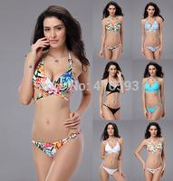 2014 new women vs swimwear print bikinis set push up bikini for women swimsuit woman bathing suit piece swimsuits