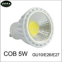 AC 220V GU10 COB 5W LED Bulb lamp Warm White/ white, COB LED spot light, 6pcs/lot