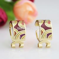 New Design 1cm Width Ribbon Design Rose Gold Plated Enamel Jewelry Earring Pendant,1pcs
