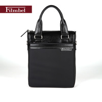Brand Filmbel Nylon casual Briefcase for men messenger bag real cow leather shoulder bag laptop bag portfolio  FP0007-1