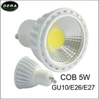 8pcs/lot 5W E27 E26 GU10 COB LED Spot Light Spotlight Bulb Lamp High power lamp AC/DC85V-265V