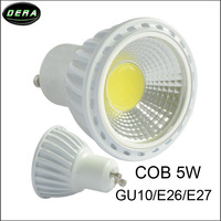 8pcs/lot 5W E27 E26 GU10 COB LED Spot Light Spotlight Bulb Lamp High power lamp AC/DC85V-265V