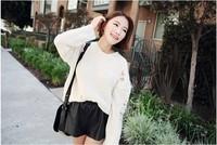 EAST KNITTING TE-601 New 2014 shorts women Hot fashion faux fur elastic waist shorts Free shipping