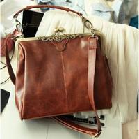 4 Colors Free Shipping New Fashion Europe Brown Retro Ladies Shoulder Purse Handbag Totes Bag Free Shipping 640215