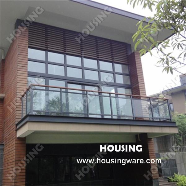 balcon extérieur en aluminium balustrade rambarde en verre trempé